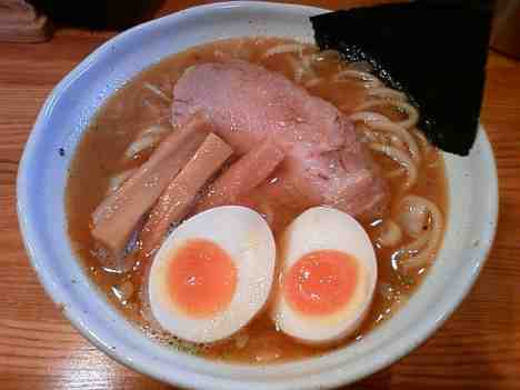 麺道 GENTENの味玉らぁ麺の口コミ 新松戸駅 徒歩5分